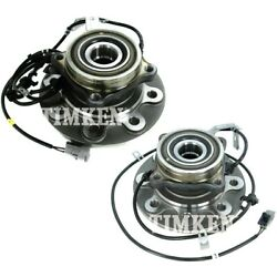 Set-tmsp580101-f Timken Set Of 2 Wheel Hubs Front Driver And Passenger Side Pair