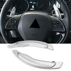 Steering Wheel Paddle Shifter Extension For Mitsubishi Lancer Evo X Silver 2pcs