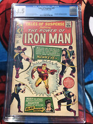 Tales Of Suspense 57 - Cgc Vg- 3.5 - Origin And 1st Appearance Of Hawkeye 1964