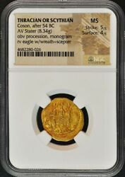 Coson After 54 Bc Thracian Or Scythian Av Stater Ngc Ms60