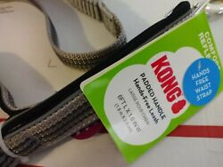 New Kong Comfort And Reflective Padded Handle Hands-free Bungee Leash Grey Gray 6'