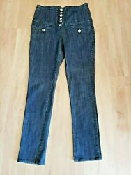 Vintage High Waisted Silver Button Fly Jeans 80and039s 90and039s Y2k 13/14 Blue Mom Chic