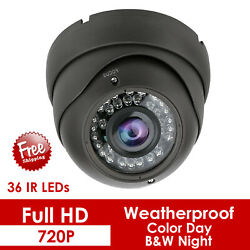 2 In 1 Wide Angle Security Cctv Camera 1080p Day Outdoor Night Vision Dome 1.3mp