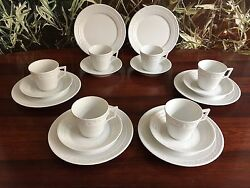 Kpm Berlin,kurland In White - Noble 18- Piece Coffee Service For 6 Pers. New