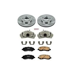 Kcoe1678 Powerstop Brake Disc And Caliper Kits 2-wheel Set Front New Coupe