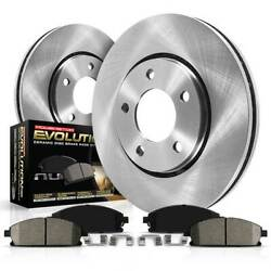 Koe2020 Powerstop 2-wheel Set Brake Disc And Pad Kits Front New For Chevy Savana