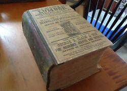 Antique Massive Book 1,619 Pages Woods' Baltimore City Directory Rare 1885 Ed.