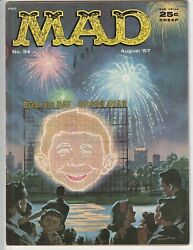 Mad Magazine 34 F/vf 7.0 Nice Copy Classic 4th Of July Fireworks Cover 1957 Key
