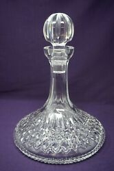 Waterford Clear Crystal Glass Lismore Pattern Ships Whiskey Wine Decanter - Mint