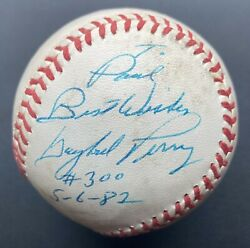 Gaylord Perry Game Used 300 Win Signed Baseball Autographed Ball Gu 5/6/1982