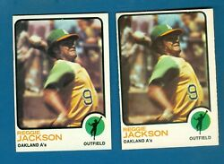 1973 Topps And O-pee-chee Reggie Jackson 255 Aand039s 2 Cards