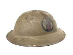 Original Ww1 Painted Doughboy Helmet 89th Infantry Division Wwi