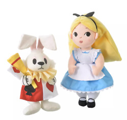 Alice In Wonderland Alice And White Rabbit Plush By Mary Blair Disney Store Japan