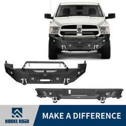 Hooke Road Replaced Steel Front Or Rear Bumper Assembly Fit Dodge Ram 1500 09-12