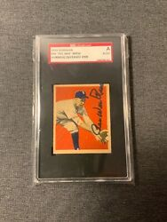 Pee Wee Reese 1949 Bowman 36 Autograph Sgc Authentic