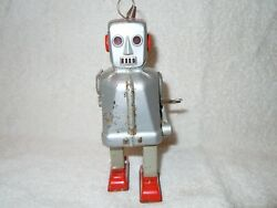 Vintage 1950s Zoomer Style Robot Tin Windup 6 Inches Tall