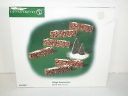 Department 56 STONE WALL Set of 6 Village Accessories #52629