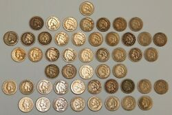 1859-1864 Copper / Nickel Indian Head One Cents - 1¢ - Lot Of 50