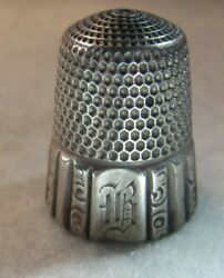 599 Fluted Border Sterling Silver Thimble - Simon Bros. Co. Size 11