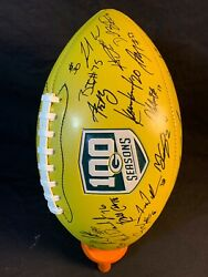 2018 Green Bay Packers Football Autographed 100 Seasons Full Team Give Back