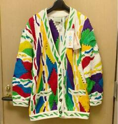 Vintage Coogi Unused With Tag Cotton Cardigan Sweater Size S Made In Australia