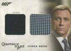 James Bond Archives 2009 - Qc03 Bond Tie And Jacket Relic Costume Card 113/350