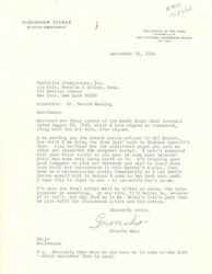 Groucho Julius Marx - Typed Letter Signed 09/18/1968