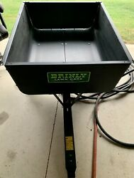 New Brinly Lawn Care Trailer Black Steel With Tires Dump End