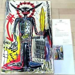 Jean-michel Basquiat Large Oil Painting There Are Details