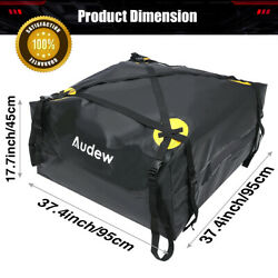 Audew Rooftop Cargo Carrier Suv Car Roof Top Cargo Bag Heavy Duty Strap For Jeep