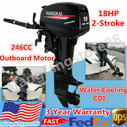 2-stroke 18hp Outboard Motor Short Shaft Fishing Boat Engine Water Cooling 246cc