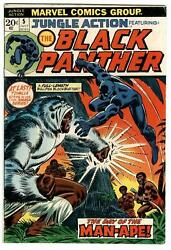 Jungle Action #5 July 1973 1st Solo Black Panther Avengers Black Knight Vision