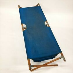 Vintage Antique Tucker Military Army First Aid Camping Folding Cot