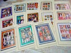 Diana Princess Of Wales Collection 14 Different Souvenir Stamp Sheets Mnh