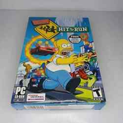 The Simpsons Hit And Run Pc 3 Cd-rom Game Big Box Complete Trading Card Nice