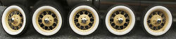 5 Original 1930 1931 Model A Ford 19 Wire Spoke Wheels Tires And Hubcaps Vry Nice