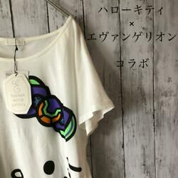 Rare Hello Kitty Evangelion Decaprint T-shirt For Japan Only Character
