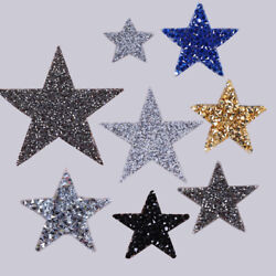 Crystal Star Patches Embroidered Iron On Applique Clothing Sticker Badge