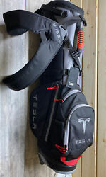 Uber Rare Tesla Golf Bag Brand New With Tags Still In Plastic Mint Please Look