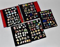 224 Disney Trading Pins In Pin Trading Book - 5 Pages Mickey And Friends
