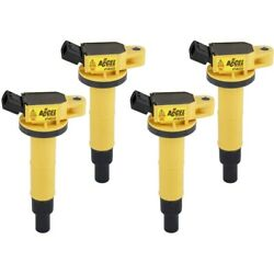 140333-4 Accel Ignition Coils Set Of 4 New For Toyota Camry Corolla Rav4 Solara