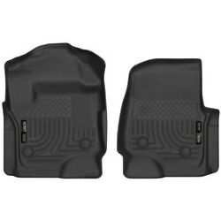 52731 Husky Liners Floor Mats Front New Black For F250 Truck F350 F450 Ford