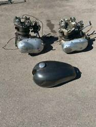 2 - 1960's Triumph Motorcycle Motors And Gas Tank Local Pickup Only