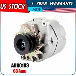 New Alternator For Tractor And Chevy 10si 1-wire With 2 Groove Pulley