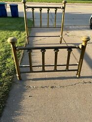 Victorian Antique Solid Brass Queen/full Size Bed Frame Easy To Assemble