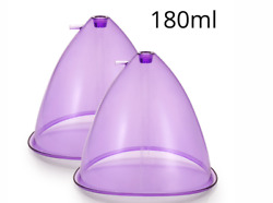 Big Size180ml Breast Enhance Butt Lifting Cups For Vacuum Therapy Shape Machine