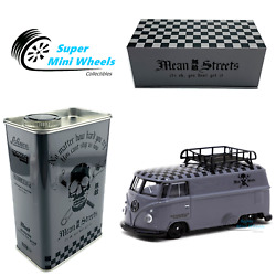 Tarmac Works X Schuco 164 Vw T1 Panel Van Mean Streets Gray With Tin Can
