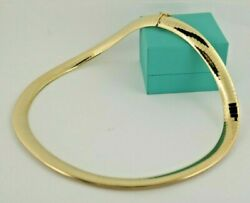 14k Omega Necklace 10 Mm Width Solid Yellow Gold Collar Design 46.5 Grams 16in