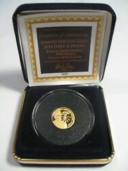 Rare 049/1000 Gold Coin Debt And Death Sbss Silver Bullet/silver Shield. 1/10 To
