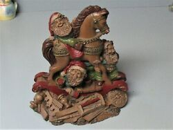 Great Tom Clark Lee Sievers, 1993 Santa's Workshop, Gnomes And Rocking Horse 37
